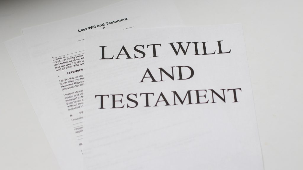 What happens to your money when you have a will